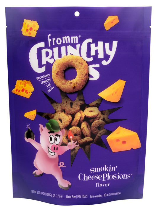 Fromm Crunchy Os Smokin' CheesePlosions Dog Treats
