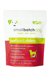 Small Batch Beef Frozen Raw Dog Food, Sliders