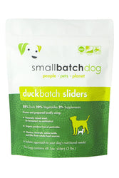 Small Batch Duck Frozen Raw Dog Food, Sliders