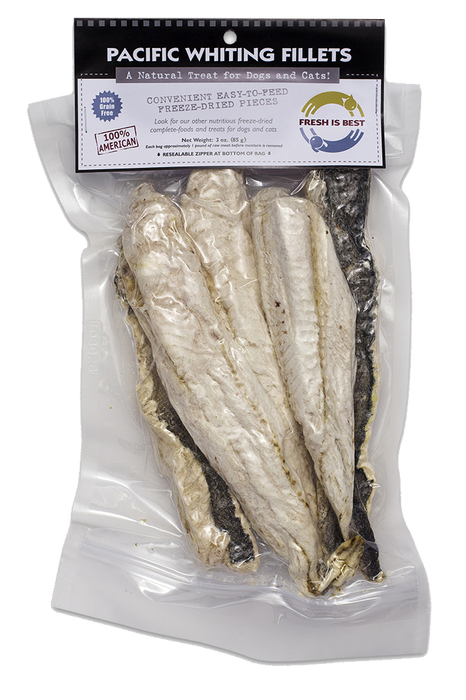 Fresh is Best Pacific Whiting Fillets Pet Treats
