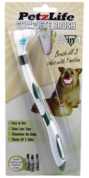 Petzlife 3-Sided Complete Toothbrush for Pets