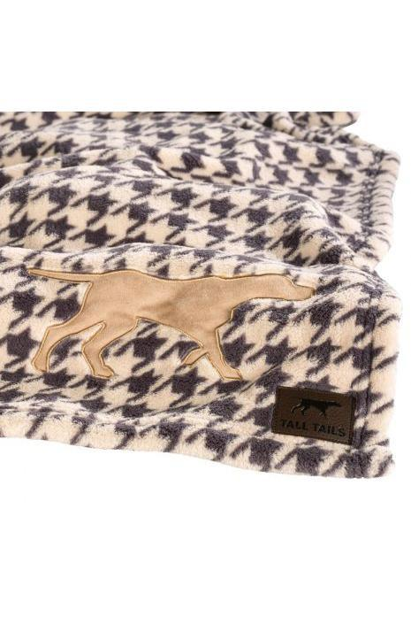 Tall Tails Houndstooth Fleece Dog Blanket, Medium