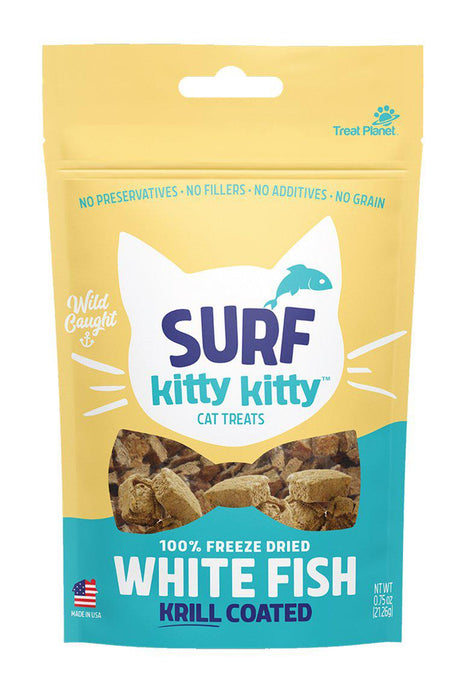 Kitty Kitty Surf Freeze Dried White Fish Cat Treats