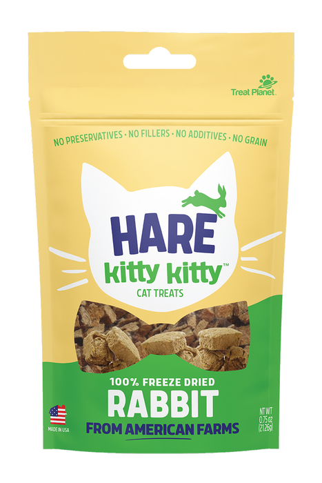 Kitty Kitty Hare Freeze Dried Rabbit Cat Treats