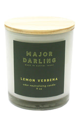 Major Darling Lemon Verbena Odor Neutralizing Candle