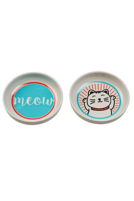 Ore' Pet Lucky Cat Bowl Set