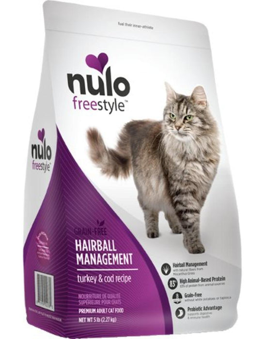 Nulo Freestyle Hairball Management Turkey & Cod Dry Cat Food