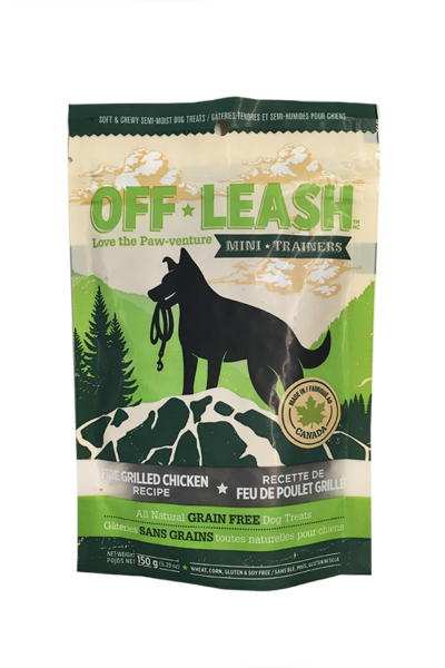 Off-Leash Grilled Chicken Dog Treats Value Bag, 14 oz