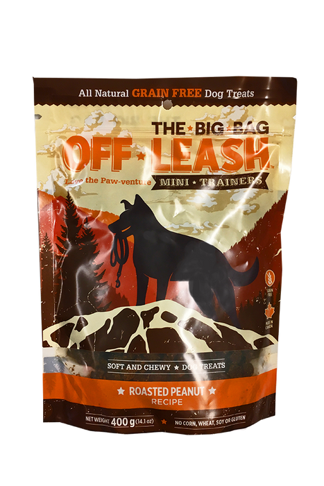 Off-Leash Roasted Peanut Dog Treats Value Bag, 14 oz