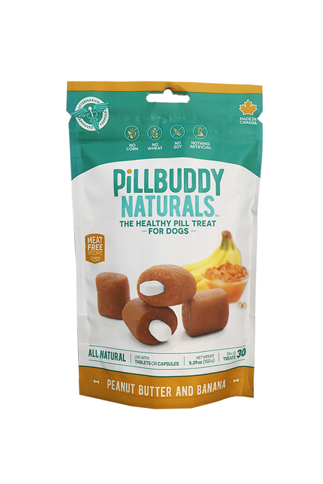 Pill Buddy Natural PB & Banana Pill Pouches for Dogs