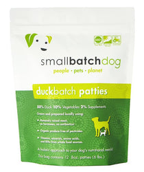 Small Batch Duck Frozen Raw Dog Food, Patties