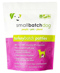 Small Batch Turkey Frozen Raw Dog Food, Patties
