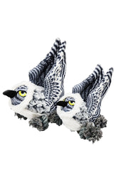 Steel Dog Ballistic Ballers Snowy Owl Dog Toy
