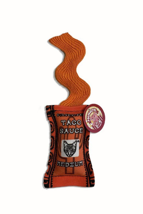 Polydactyl Medium Taco Sauce Catnip Cat Toy