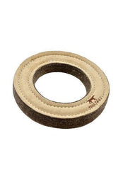 Tall Tails Leather & Wool Ring Dog Toy