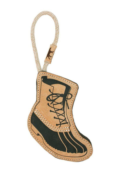 Tall Tails Leather & Wool Hiking Boot Dog Toy