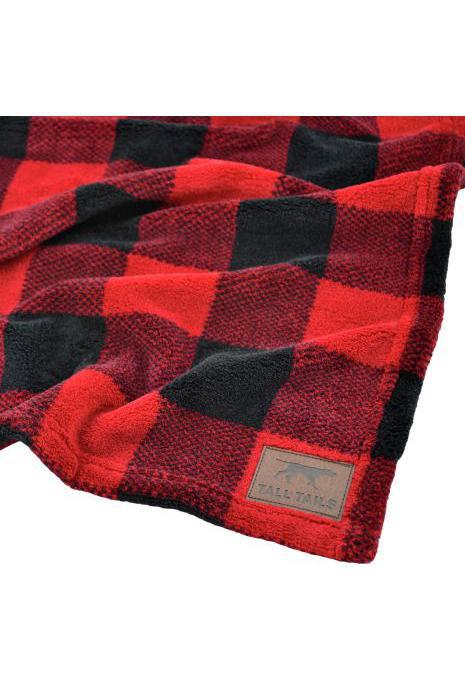 Tall Tails Hunter's Plaid Fleece Dog Blanket, Medium