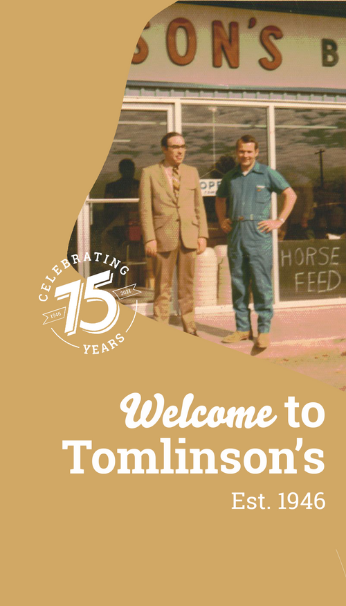 Welcome to Tomlinson's Est. 1946 (Vintage Photograph at first store in Austin, Texas)