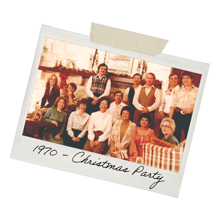 1970 - Christmas Party (Vintage Tomlinsons Family Photo)