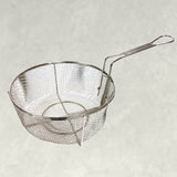 "Bayou Classic 0126 11"" Stainless Fry Basket with Folding Handle - BayouClassicShop"