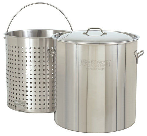 Bayou Classic 142 Quart Stainless Steel Stockpot And Basket Set - BayouClassicShop