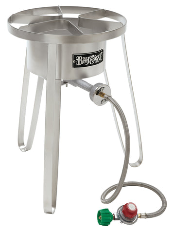 "Bayou Classic Stainless Cooker, 14""w x 21""h, 5 psi SS50  Cooker - BayouClassicShop"