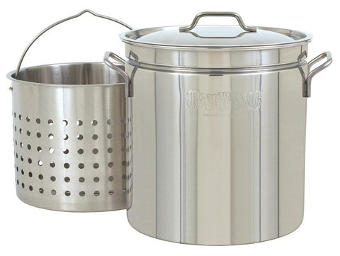 Bayou Classic 24-Qt. Steam/Boil/Fry Stockpot, Lid, Basket 1124  Stockpot