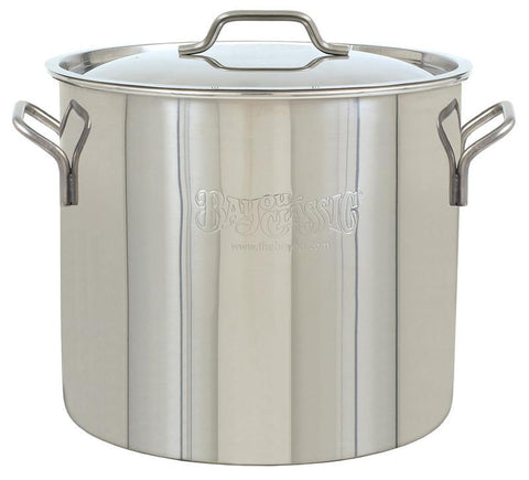 Bayou Classic 40-Qt. Brew Kettle, stockpot and lid 1440  Kettle - BayouClassicShop