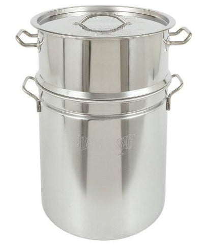 Bayou Classic 44-Qt. Stainless Stockpot, Steam Topper - Limited Quantites 1482  Stockpot - BayouClassicShop