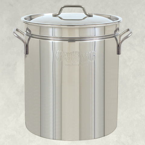 Bayou Classic 62 Qt Stainless Steel Steamer Stock Pot - BayouClassicShop
