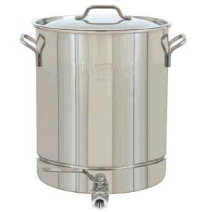 Bayou Classic 10 Gallon Stainless Steel Stockpot With Spigot - BayouClassicShop