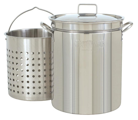 Bayou Classic 44 Quart Stainless Steel Stockpot And Basket Set - Peazz.com