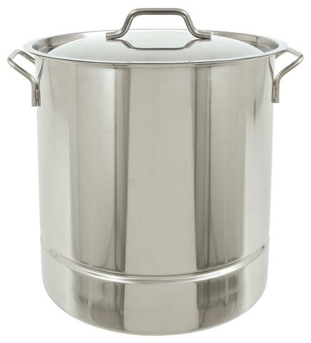 Bayou Classic 16 Gallon Stainless Steel Stockpot With Tri-Ply Bottom - Peazz.com