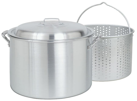 Bayou Classic 20 Quart Aluminum Stockpot And Basket Set - 4020 - BayouClassicShop