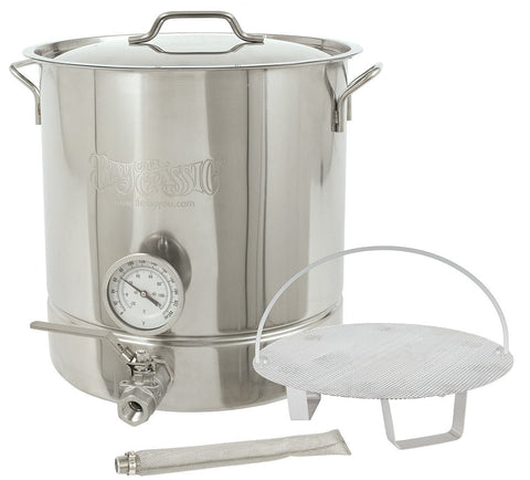 Bayou Classic Six-Piece 16 Gallon Stainless Steel Home Brewing Brew Kettle Set - BayouClassicShop