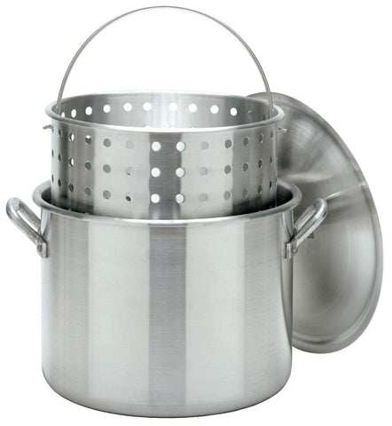 Bayou Classic 80 Quart Stock Pot With Lid And Basket - Peazz.com