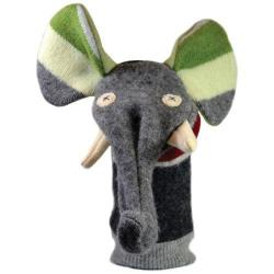 Hand Puppet Wool Elephant