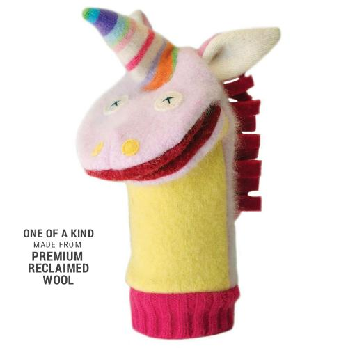 Hand Puppet Wool Unicorn