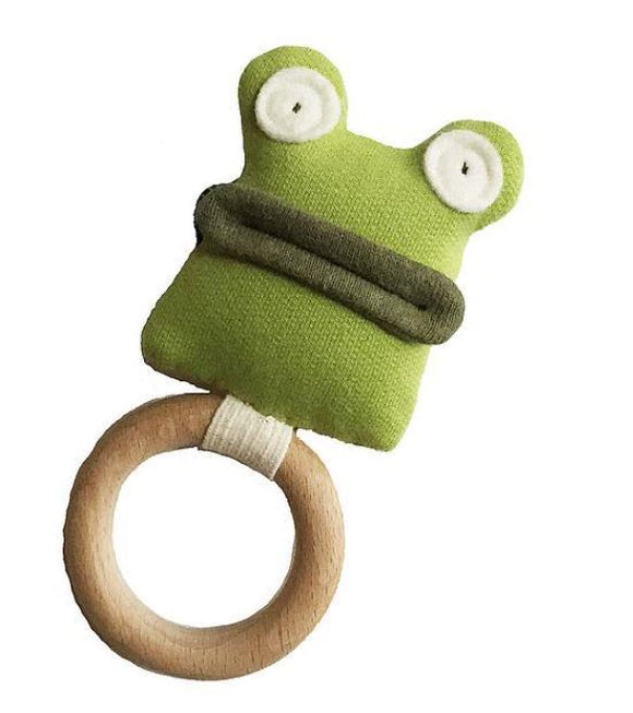 Organic Frog Rattle/Teething Ring
