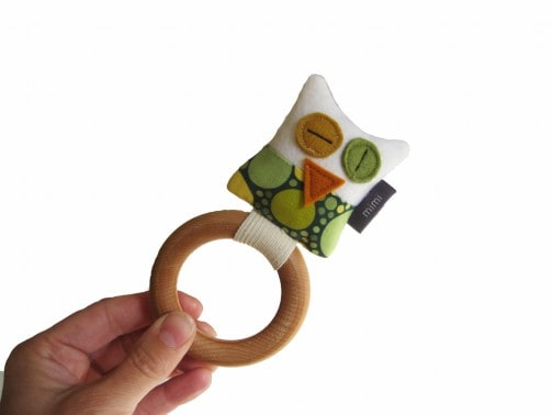 Owl Rattle/Teething Ring