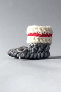 Knotted Slippers - Sock Monkey Classic