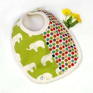 Absorbent Organic Bib - Elephants
