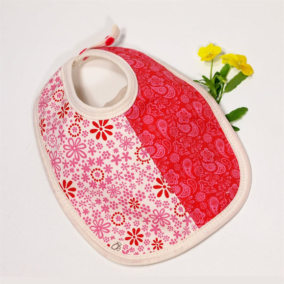 Absorbent Small Bib - Pink Flowers