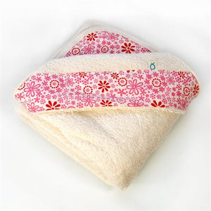 Hooded Bath Towel - Pink Flowers