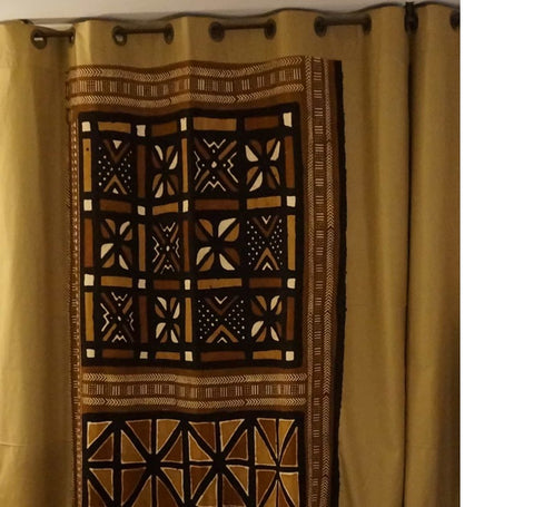 African Fabric Bogolan Curtains From Burkina Faso