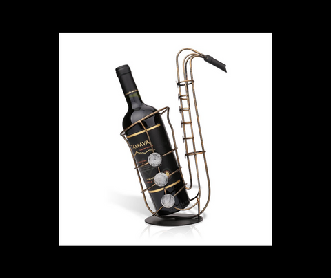 Sax Shaped Metal Wine Rack