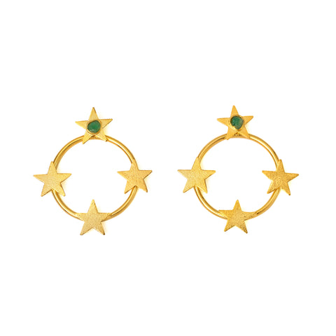 Circle of stars  earrings