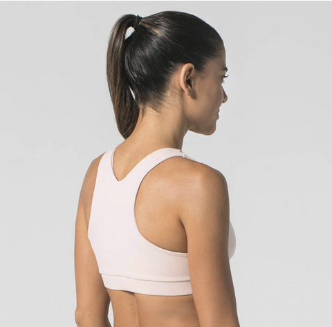 With a twist sports bra
