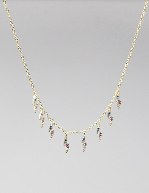 Tunder multicolor gemstone necklace