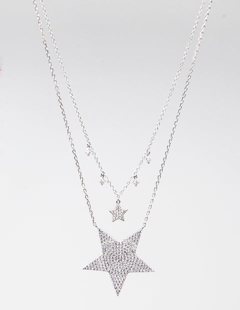 Stardust double necklace